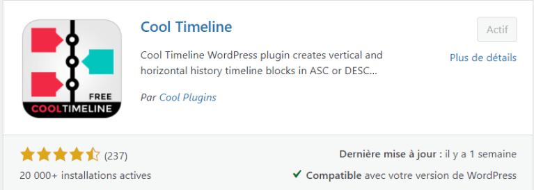 Plugin Cool Timeline