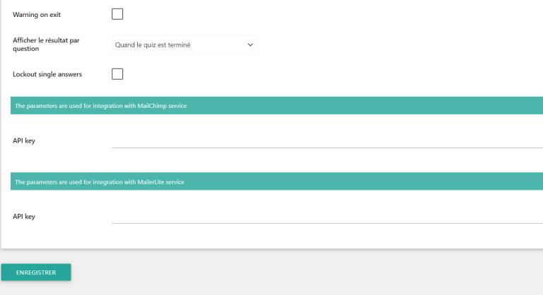 Créer son quizz avec ARI Search Quiz réglage général 2ème partie