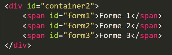 Positions CSS : Code HTML d'un éditeur de texte