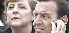 Angela Merkel e Gerhard Schroeder