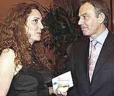 Rebekah Brooks e Tony Blair