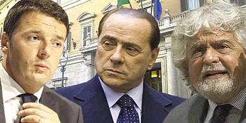 Renzi, Berlusconi e Grillo