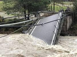 Val di Fiemme, crollo di un ponte