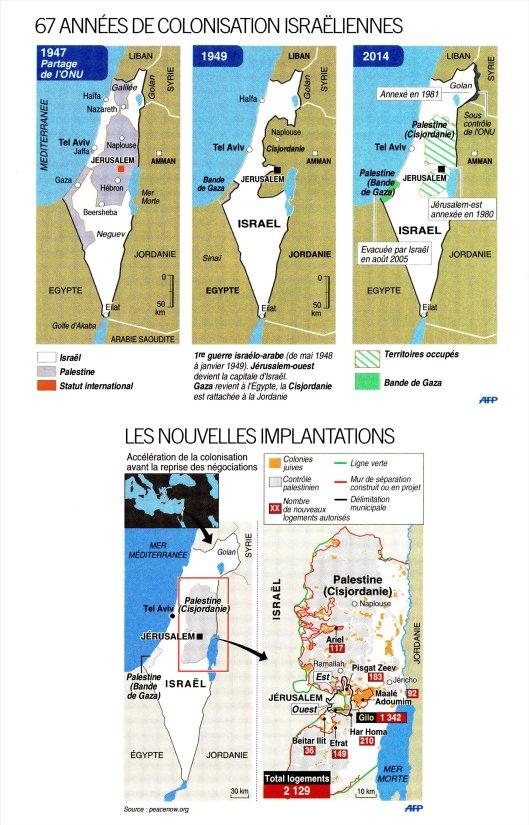 Carte Israel_Palestine