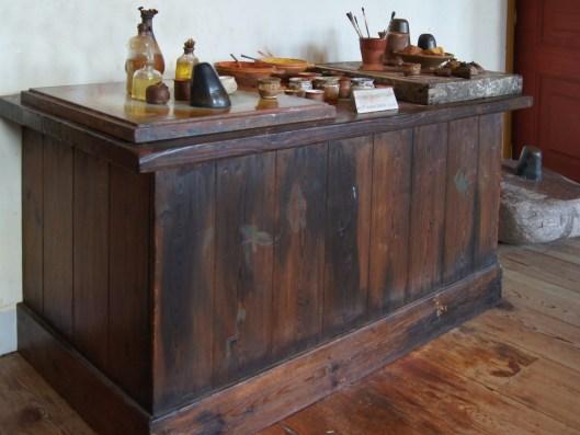 Table de préparation des couleurs - Maison Rembrandt - Amsterdam
