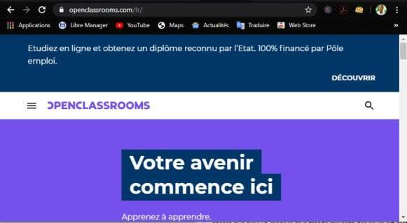 Formez-vous à distance avec OpenClassroom