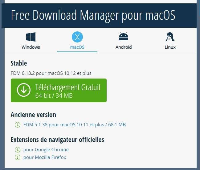 Free Download Manager alternatives à Internet Download Manager pour Mac et Windows