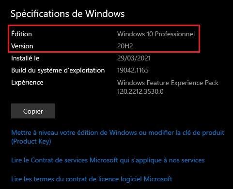activer le mode sombre sur Windows 10