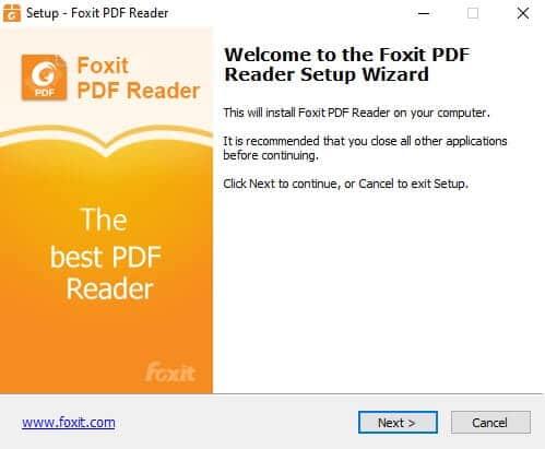 Télécharger et Installer Foxit Reader Free
