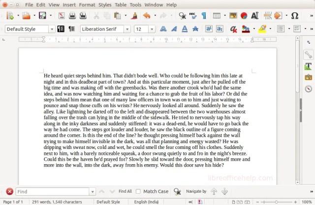 Dummy Text -LibreOffice Writer