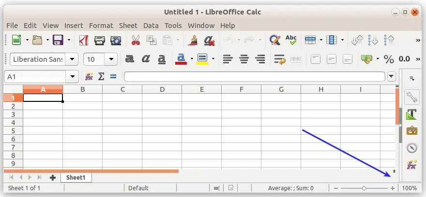 How To Zoom In Zoom Out In Libreoffice Calc Sheet Libreofficehelp Com