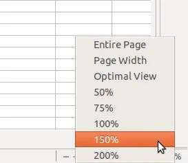 How To Zoom In Out LibreOffice Calc Sheet