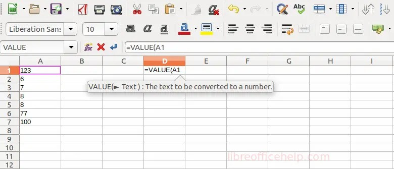 Convert Text to Number in LibreOffice Calc