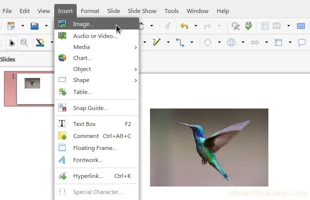 How To Crop Image In Libreoffice Impress Libreofficehelp Com