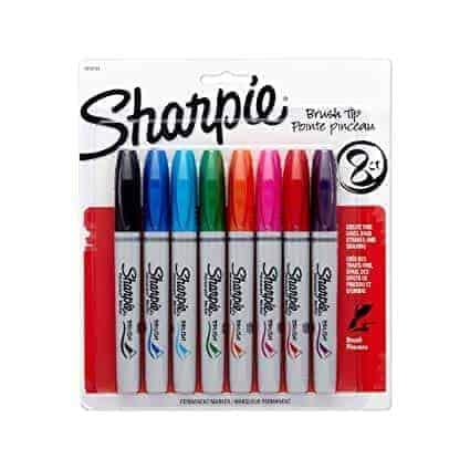 Sharpie brush pen set 8 colores punta pincel - libreria elim
