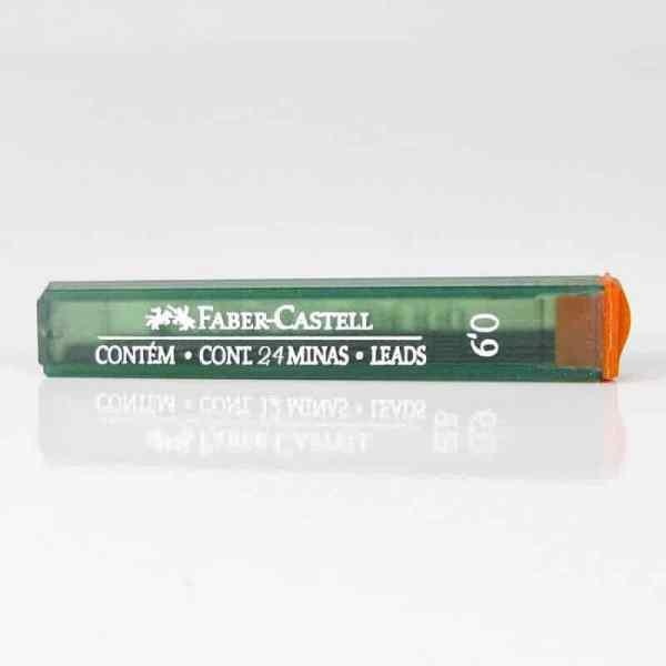 MINAS 0.9 B FABER CASTELL TUBO 24 MINAS