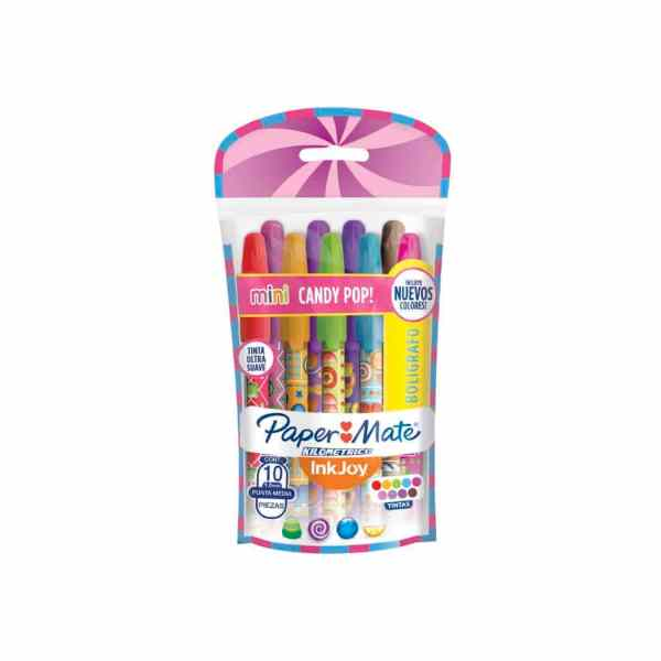 lapiceras mini candy pop inkjoy paper mate set 10 colores