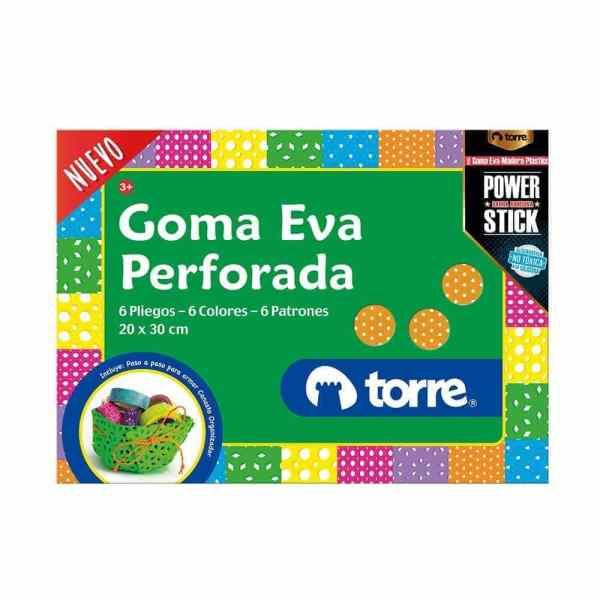 GOMA EVA PERFORADA