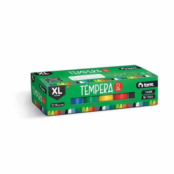 TEMPERA TORRE XL 12 COLORES