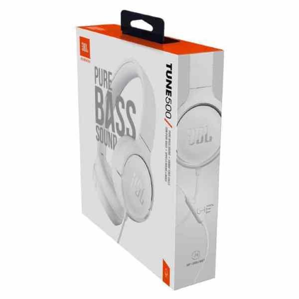 AUDIFONOS JBL TUNE 500 ON-EAR BLANCO -2