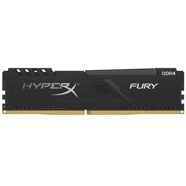 MEMORIA RAM 8GB HYPERX DDR4 DIMM 2400MHZ FURY BLACK