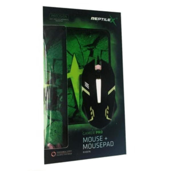 KIT GAMER PRO MOUSE Y PAD REPTILEX-3KIT GAMER PRO MOUSE Y PAD REPTILEX-box
