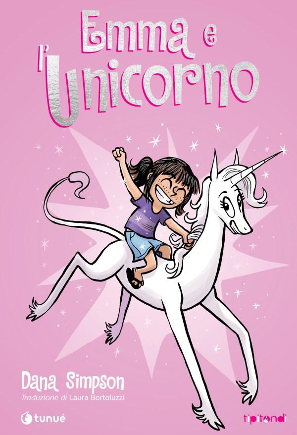 Copertina del libro Emma e l'unicorno di Dana Simpson