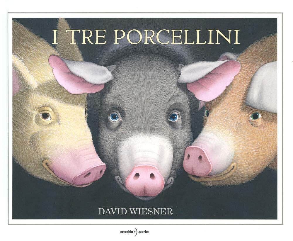 Copertina del libro I tre porcellini di Wiesner