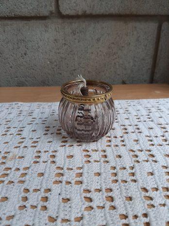 LAMPARA VOTIVA Borde dorado