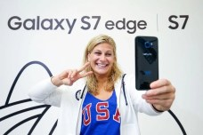 RIO DE JANEIRO, NEW ZEALAND - AUGUST 03: Kayla Harrison of the USA Judo team receives her Samsung Galaxy S7 edge Olympic Games Limited Edition at the Samsung Galaxy Studio in the 2016 Olympic Village on August 3, 2016 in Rio de Janiero, Brazil. (Photo by Hagen Hopkins/Getty Images) *** Local Caption *** Kayla Harrison