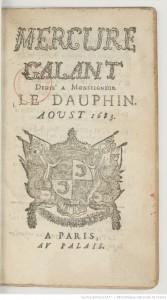 Le Mercure Galant d'août 1683