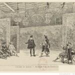Théâtre du Marais. Scène du Cid, de Corneille : [estampe] / Ad. M. [sig.] Source BnF