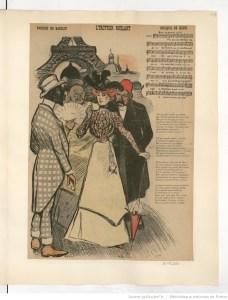 "L'trottoir roulant (Babolin, Klotz) paru dans ""Gil Blas Illustré"". Illustration Paul Balluriau. 1900. Source : BnF/ Gallica"