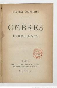 Ombres parisiennes de Georges Courteline