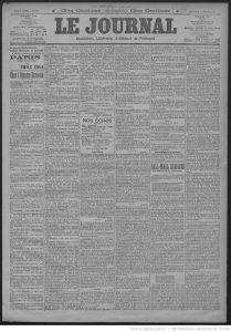 Le Journal du 17/10/1897