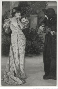 Angelo, tyran de Padoue. Sarah Bernhardt dans le rôle de la Tisbe.