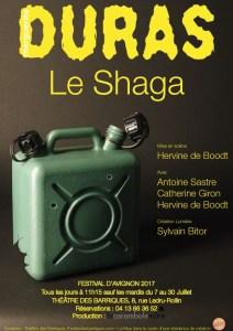 Le Shaga de Marguerite Duras, mise en scène de Hervine de Boodt