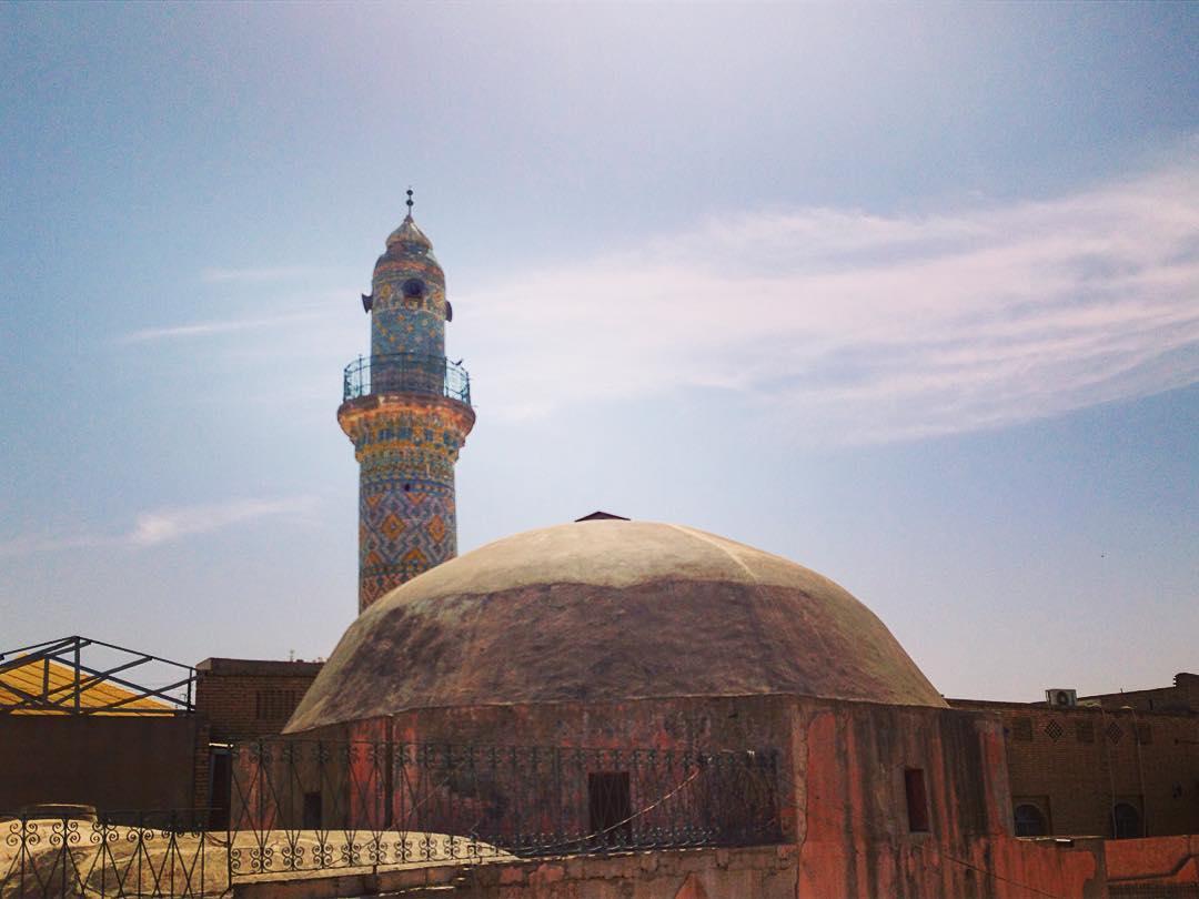 Erbil, Kurdistan irakien, Irak. Minaret et hammam de la Citadelle.