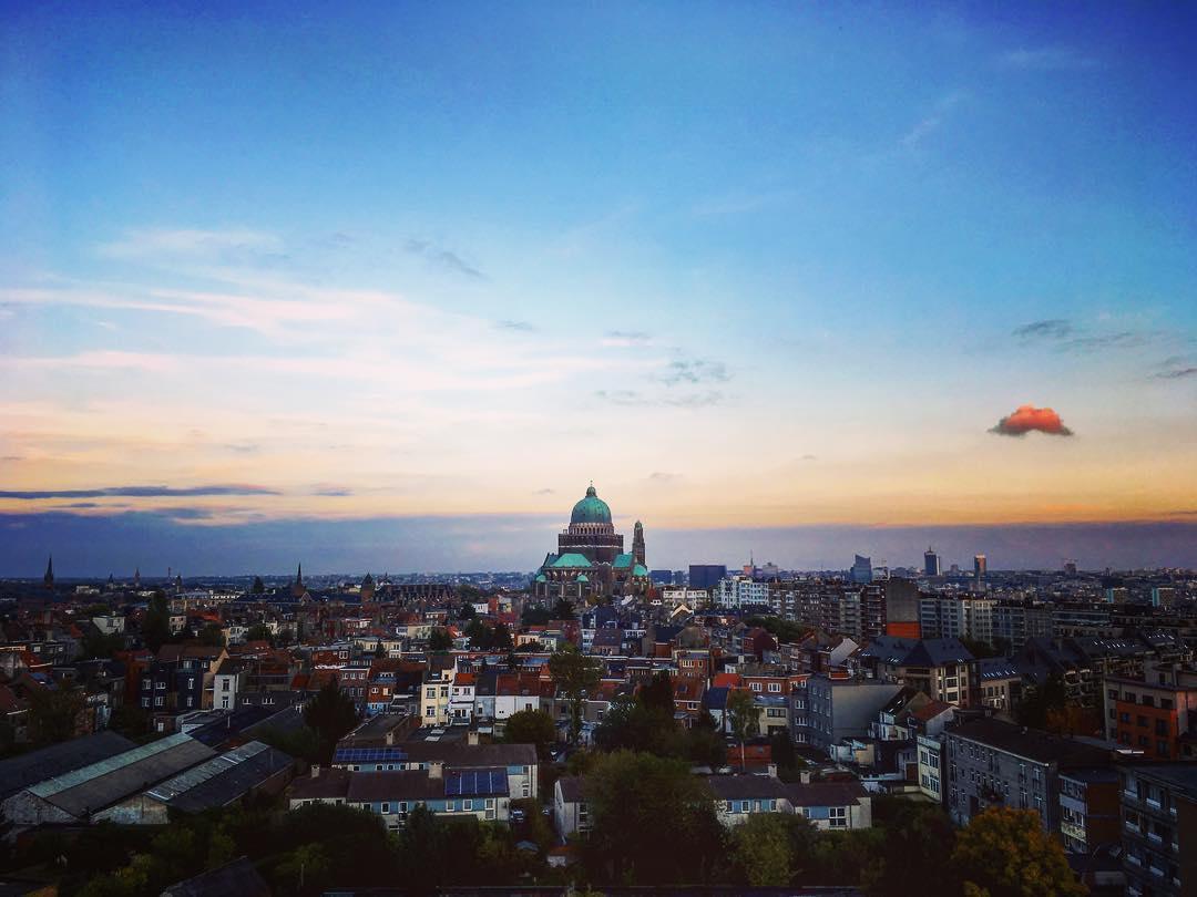 """Bruxelles, Belgique. Basilique du Sacré-Cœur, dite basilique de """"Koekelberg""""."""