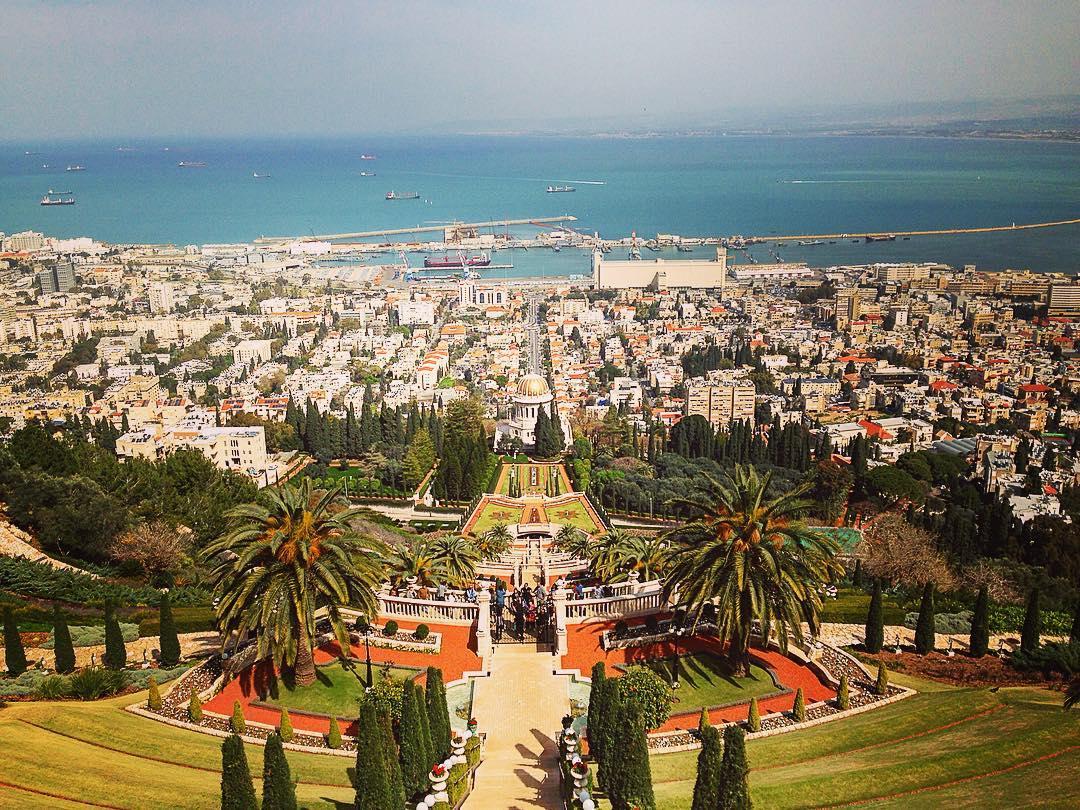 Haïfa, Israël. Vue sur les pentes du Mont Carmel.