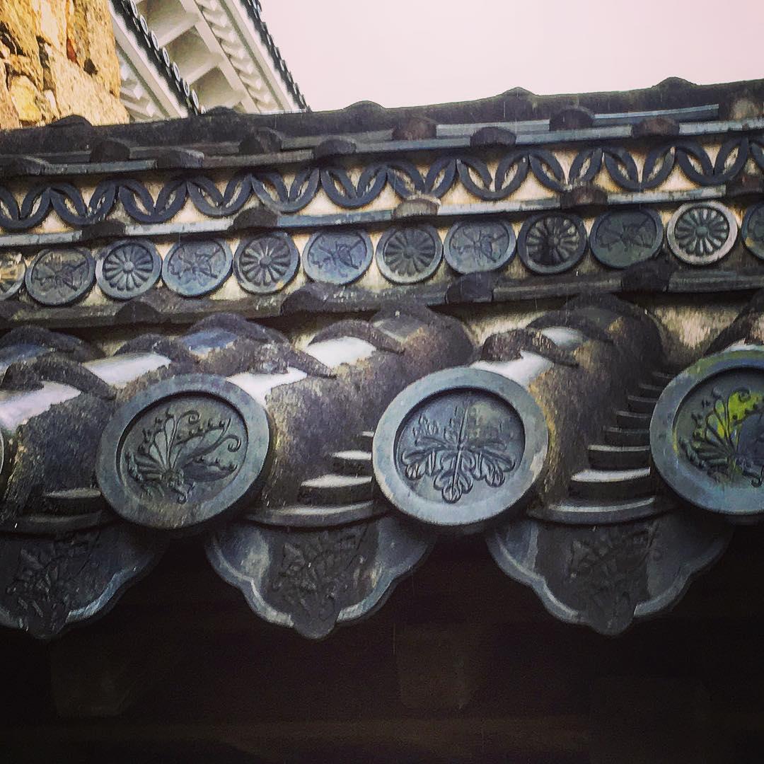 Tuiles du château de Himeji