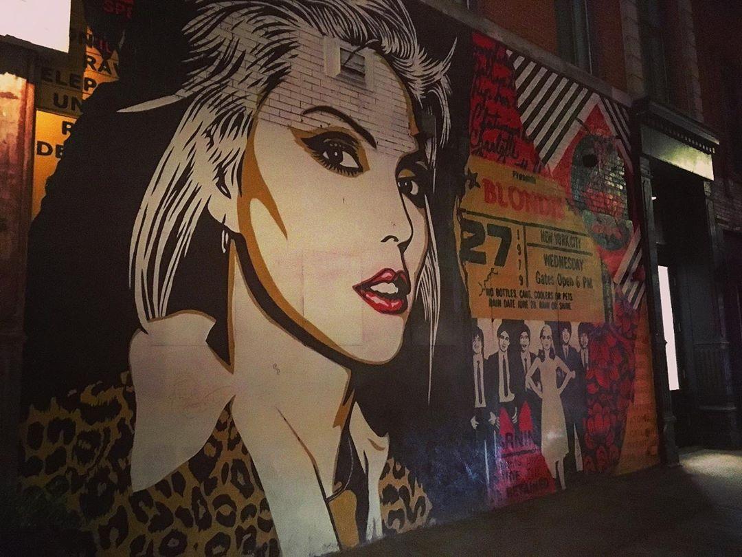 Manhattan, New York, États-Unis. Blondie.