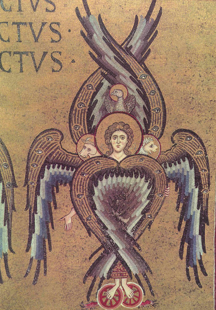 Byzantine Mosaic of Seraph from Monreale Cathedral