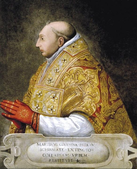 Martin elected pope at Council of Constance