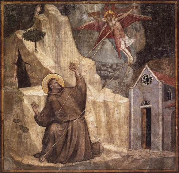 Stigmatisation of Saint Francis, 1325, fresco, Bardi Chapel, Santa Croce, Florence