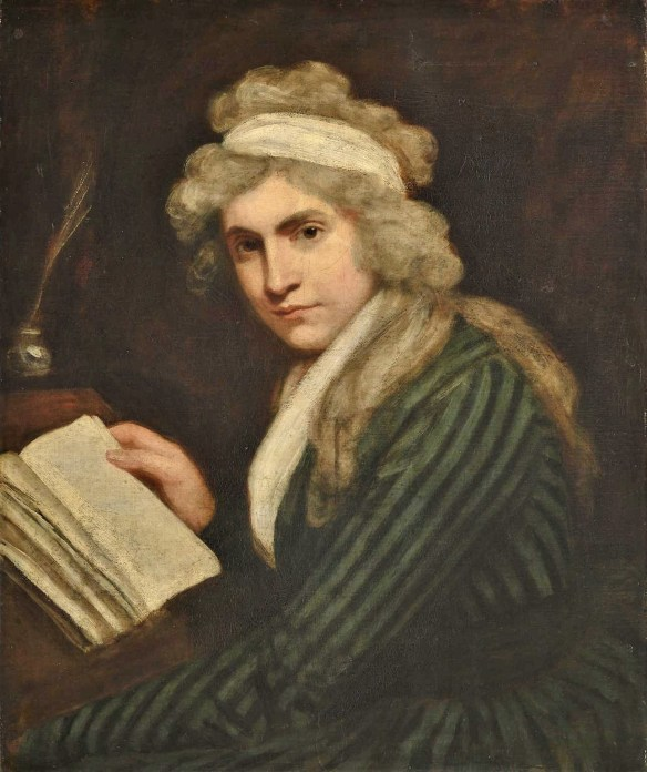 Mary Wollstonecraft (Mrs William Godwin) c.1790-1 by John Opie 1761-1807. Tate Britain, London.