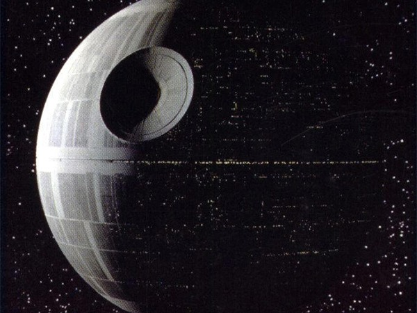 La Morte Nera in Guerre Stellari (1977)