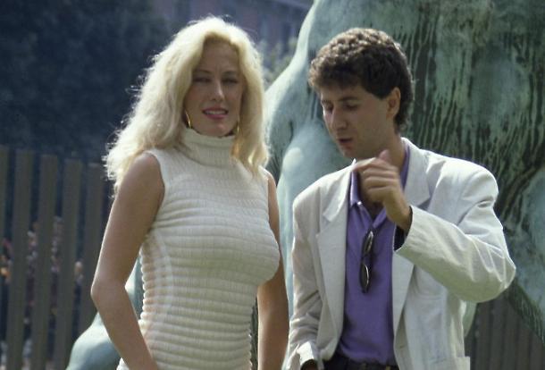 Moana Pozzi con Fabio Fazio