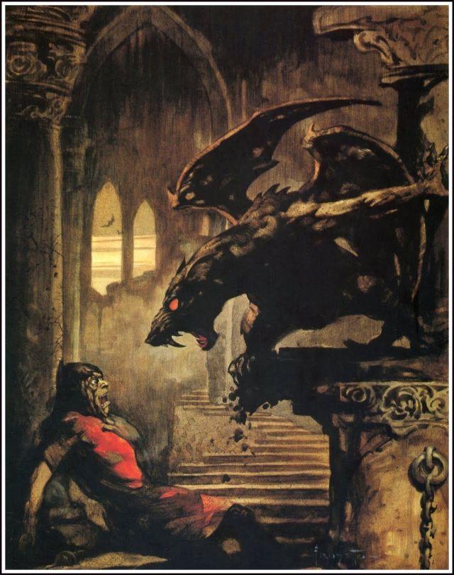 LO SCULTORE DI MOSTRI nella copertina di FRANK FRAZZETTA per la copertina dell'adattamento in graphic novel sulla rivista CREEPY
