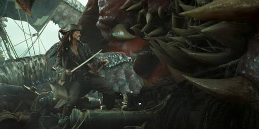 Jack Sparrow contro il Kraken
